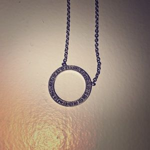 """Stamped Sterling Silver & Diamond 18"""" necklace."""